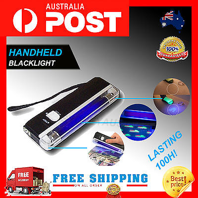 MIRACLE Handheld UV Black Light Torch Blacklight fake Money Detector Party Invis