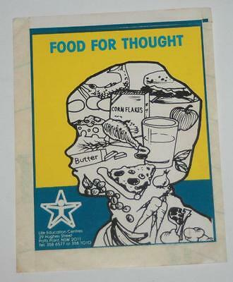 Retro Sticker - Food for Thought - Life Education centre