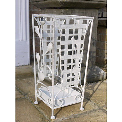 Umberella stand antique white french style shabby chic distressed finish