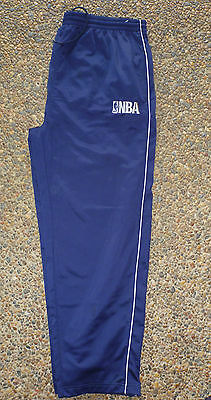 XL Mens NBA ELEVATION BASKETBALL PANTS TROUSERS BOTTOMS BLUE Pre Owned