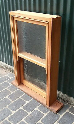 TIMBER WINDOWS -  2 Light Double hung Window - 1010h x 610w - Obscure glass