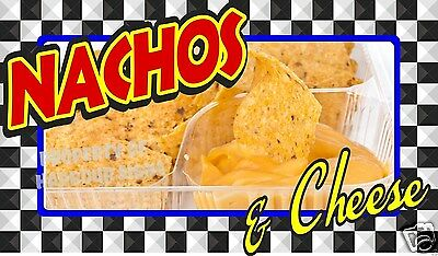 "Nachos & Cheese Decal 14"" Concession Food Truck Restaurant Vinyl Menu"