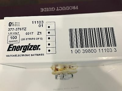 Production Date 03/2017 15 Pieces ENERGIZER 377 376 WATCH Battery SR626SW R626W