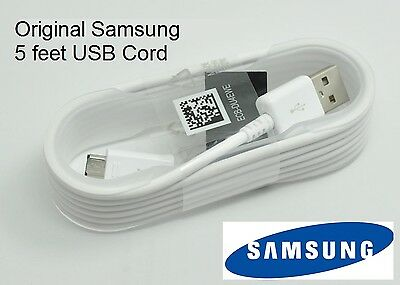 Original OEM 5 ft Samsung Galaxy S3 S4 S6 S7 Edge Note 4 5 USB Charge SYNC CABLE