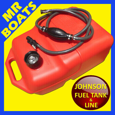 25 Litre OUTBOARD FUEL TANK ✱ JOHNSON FUEL LINE + GAUGE ✱ Boat Petrol FREE POST