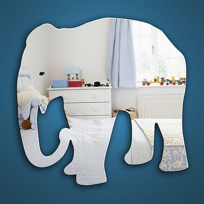 Elephant jungle themed mirror  Decorative shatterproof and safe  4 sizes
