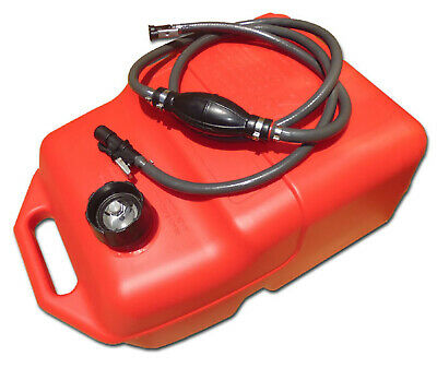 25 Litre OUTBOARD FUEL TANK ★ JOHNSON FUEL LINE + GAUGE ★ Boat Portable Petrol