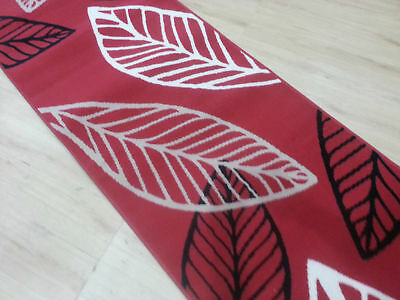 Red Stylish Runner,, Hallyway Rug, (80cm Width), Assorted lengths