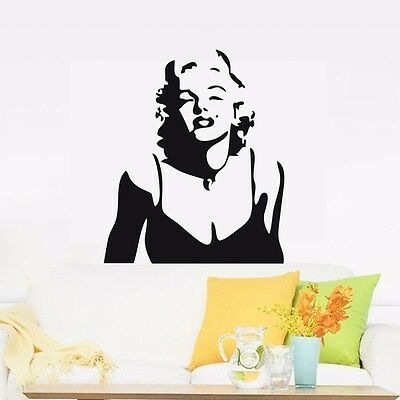 CLASSIC MARILYN MONROE Wall Decor Removable Home Vinyl Decals ...