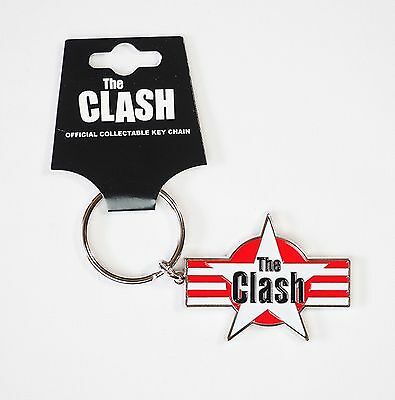 THE CLASH - STAR STRIPES KEY CHAIN - Official Licensed KEY RING - NEW - PUNK