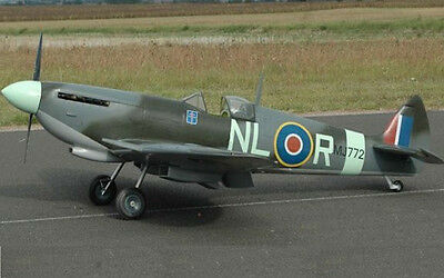 1/6  Scale Spitfire MK 1  72 inch wing span Giant le RC AIrplane Printed Plans
