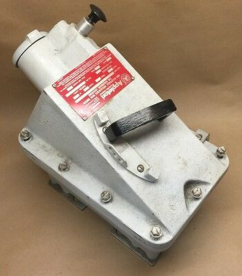 60A Explosion Proof Receptacle APPLETON DBR6023DS 60A 600V Disconnect