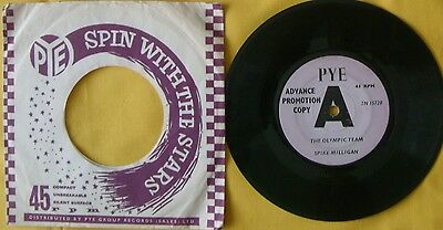 """SPIKE MILLIGAN The Olympic Team & The Epilogue 7"""" Single Pye Promotion Copy"""
