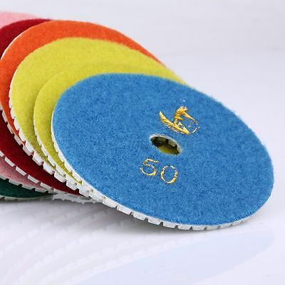 10 Piece Set 4 inch Wet Dry Diamond Polishing Pads Granite Stone Concrete Marble