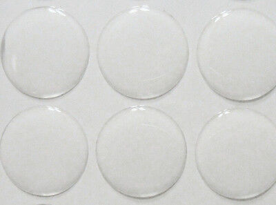 """300pcs 1"""" Round Self Adhesive 3D Circle Clear Epoxy Dome Stickers Cap For DIY"""