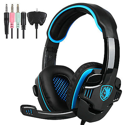 Sades 3.5mm Gaming Headset WCG Headband w/mic for XBOX 360 PC PS4