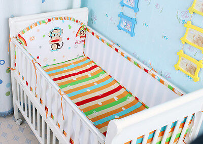 100% Cotton Baby Bedding Cot Sets-NEW 10pcs Quilt Bumpers fitted sheet pillowcas