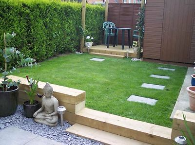 New Treated Timber Railway Sleepers 200X100 2.4M Green Treated Raised Beds
