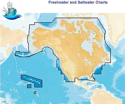 Navionics+ Preloaded Chart of All USA/Canada Gold and Hotmaps - MicroSD™