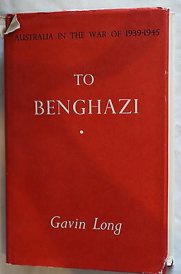 WW2 Australian To Benghazi Reference Book