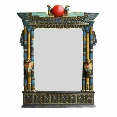 """Large 25"""" Tall Egyptian Collectible Dual Cobra Wall Mirror Plaque Home Decor"""