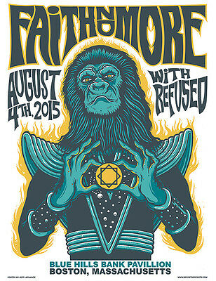 FAITH NO MORE / REFUSED poster Boston 2015 by Jeff LaChance