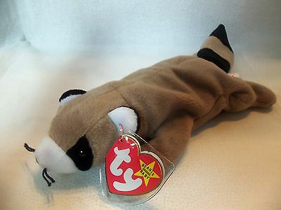 TY Beanie Babies Raccoon ** RINGO** 4th Generation New w/ Tag