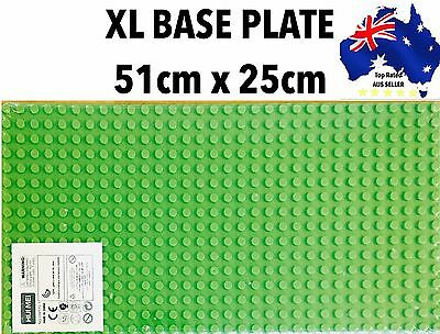 "BIG BLOCK LEGO MAT DUPLO BASE PLATE BOARD LARGE 51x25cm XMAS GIFT 20x10""inches"