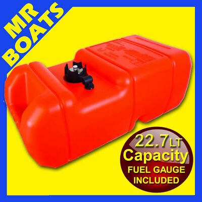 22 Litre ✱ OUTBOARD FUEL TANK with GAUGE ✱ Boat Marine Petrol 22 LT FREE POST