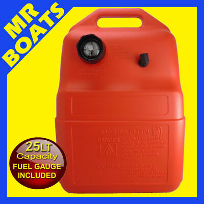 25 Litre - OUTBOARD FUEL TANK with GAUGE - Boat Marine Petrol 25 LT FREE POST