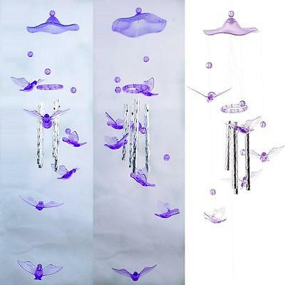 Pigeon Modish Crystal 4 Metal Tubes Windchime Wind Chime Home Garden Decor HF