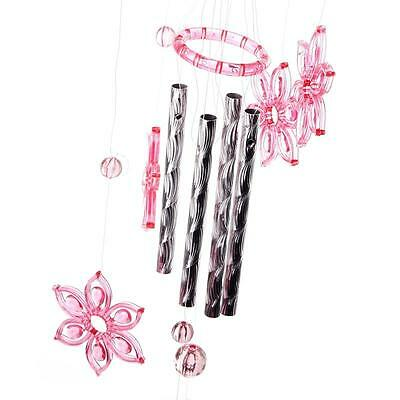 Nice Stylish Crystal 4 Metal Tubes Windchime Wind Chime Home Garden Decor HY
