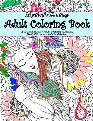 NEW Mystical / Fantasy Adult Coloring Book by Puzzle Book