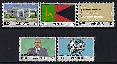 1990 VANUATU 10th ANNIVERSARY OF INDEPENDENCE SET OF 5 FINE MINT MNH/MUH