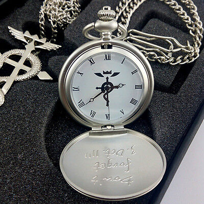 Classical  Alchemist Pocket Watch Necklace Ring Edward Elric Anime cosplay Gift