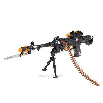 NEW Kids Toy Military Assault Machine Guns with Sound Flashing Light Gift 59cm