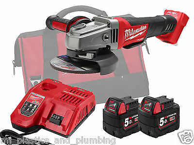 MILWAUKEE - 18V FUEL 115mm ANGLE GRINDER - M18CAG115XPDB-502 - 5.0AH PACK