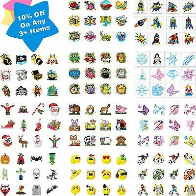 36 Childrens Pirate Princess Temporary Tattoos Party Bag Filler Kids Boys Girls