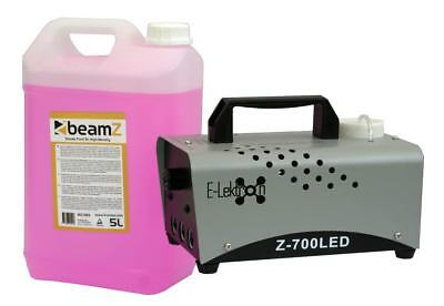 E-Lektron Z-700LED 600W NEBELMASCHINE Blue-Flame für Party inkl. 5L Nebelfluid
