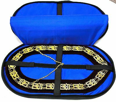 Quality Masonic Regalia Collar SOFT CASE Hold 2 COLLARS PADDED BAG FAST SHIP