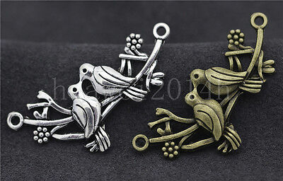 5//20//100pcs Tibetan Silver Exquisite Polygon Jewelry Charms Connectors 30x18mm