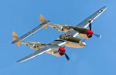 """P38 Lightning 94"""" Giant Scale RC Model AIrplane Printed Plans"""