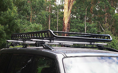 1.9m Steel Heavy Duty Roof Rack Cage Cargo Basket Luggage Carrier Tray Box