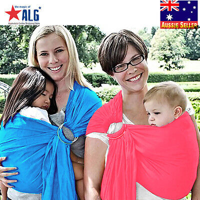 Ring Sling Infant Carrier Pouch Wrap Newborn to Toddler 100%Cotton Pink