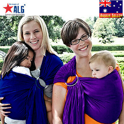 Baby Ring Sling Carrier Pouch Wrap Newborn to Toddler 100%Cotton Purple New