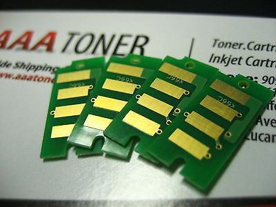 4 x Toner Chip (BCMY) for Ricoh Aficio SP C240DN, SP C240SF Printer Refill
