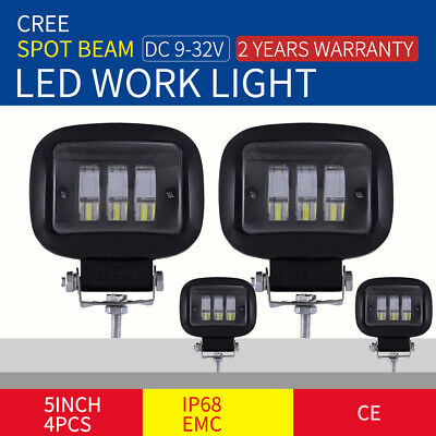 7INCH 28800W LED Cree Driving Lights  Black Spotlights Offroad 4WD SUV 12V&1400W