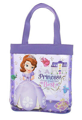 Licensed Disney Sofia the First Tote Bag Shopping Beach Handbag Purse Official