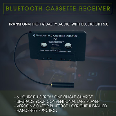 Bluetooth Cassette Adapter for iPad iPhone iPod Android Samsung - Hands-free IDC