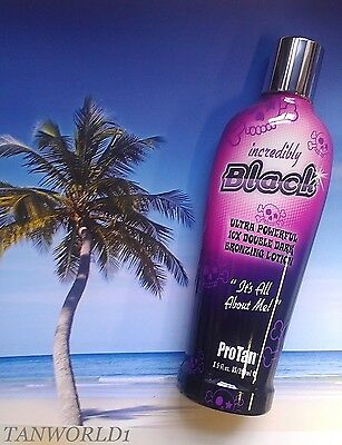 dPRO TAN INCREDIBLY BLACK SUNBED BRONZING TANNING ACCELERATOR LOTION + FREE GIFT